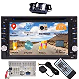 EINCAR Bluetooth Car Stereo System CD DVD Player with GPS Navigation 6.2 Inch Capacitive Touch Screen in Dash Double Din Head Unit 2DIN Radio Receiver Auto Audio Video Monitor USD Map + Backup Camera