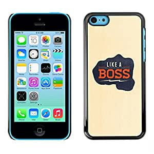 LASTONE PHONE CASE / Carcasa Funda Prima Delgada SLIM Casa Carcasa Funda Case Bandera Cover Armor Shell para Apple Iphone 5C / Cool Like A Boss Electric Quote Fist Punch Yellow