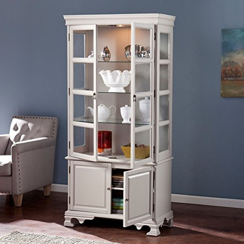 Storage Cabinet with 4 Adjustable Shelves and 2 Fixed Shelves Upton Home Pillman Curio (Collection Curio China)