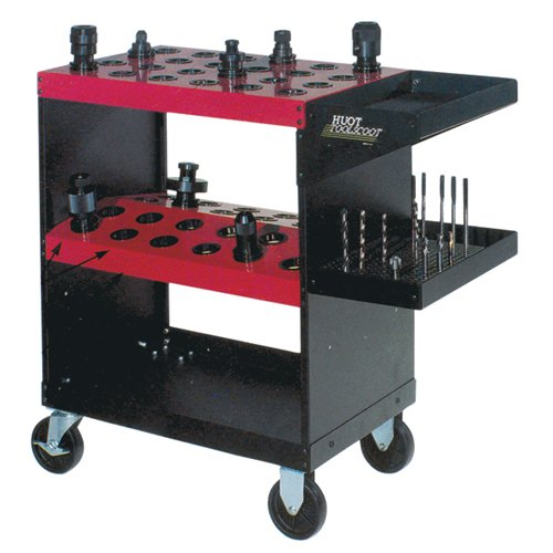 HUOT CNC Tool Cart - MODEL #: 40HU Capacity: 48 Tool Style: BT, Cat ''V'' Flange, NMTB Taper: 40