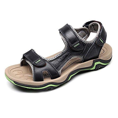 Pantofole Pelle Uomo Estivi Uomo in da Regolabili Pantaloncini Uomo Yao Sandali da Spiaggia da Antiscivolo da Sandali Pescatore in Spiaggia per da Nero Pelle Traspiranti Pelle Sandali in dqUxZFR