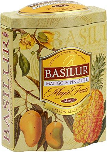 Basilur | Mango Pineapple Tea | With Real Bits of Fruits | Premium Ceylon Black Loose Tea | 100g / 3.52 oz.