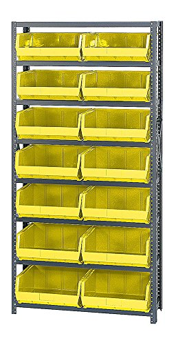 (Quantum 8 Shelf Giant Open Hopper 14 QUS250 Bin Storage Rack Unit 12