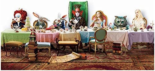 Alice In Wonderland Cast With March Hare Seated At Mad Tea Party Table 8 X 10 Inch Photo At Amazon S Entertainment Collectibles Store