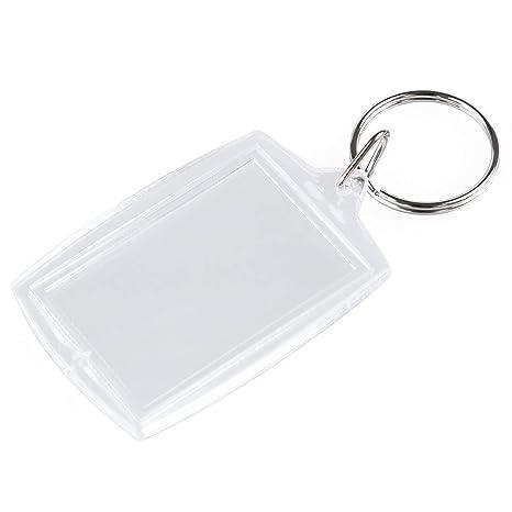 Nicedeal Llavero 10 PCS Transparente en Blanco DIY Clave del ...