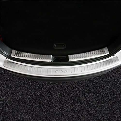 Vesul Stainless Steel Inner and Outside Rear Bumper Protector Cover Tailgate Scuff Plate For Mazda CX-5 CX5 2016 (Tailgate Scuff Plate)