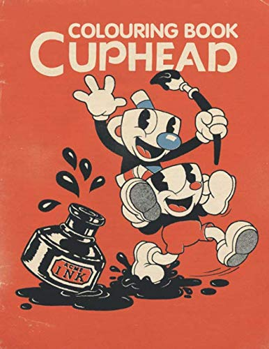 Cuphead colouring book: Colouring Book for Kids 4-10