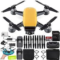 DJI Spark Portable Mini Drone Quadcopter Fly More Combo Palm Landing Pad Bundle (Sunrise Yellow)