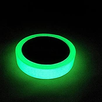 "Marsway 1 Rolls Luminous Tape Sticker 10' Length x 0.8"" Width Removable Waterproof Photoluminescent Glow in the Dark Safety Tape"