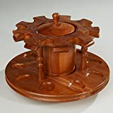 pipe stand with jar - Decatur Rotating Pipe Stand with Tobacco Jar