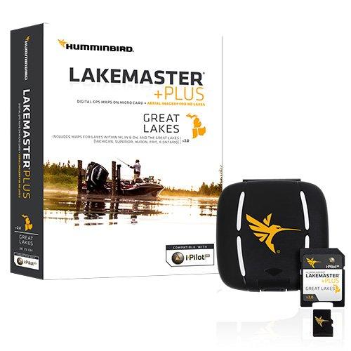 Image of Humminbird LakeMaster Plus Great Lakes Edition Digital GPS Lake and Aerial Maps, Micro SD Card, Version 2