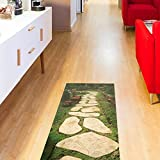 3D floor decal (roads) pvc floor surface kitchen study non-slip floor surface (120x60cm wear)