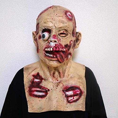 Halloween Adult Latex Mask Terror Biochemistry Zombie Decadence Devil Headgear,Photocolor,Onesize