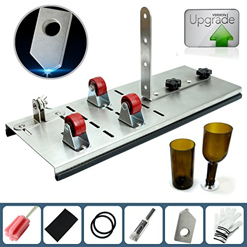 Glass Bottle Cutter kit , Adjust full sized Bottle Cutter DIY Cutting Machine Wine Bottles and Beer Bottles Cutting Tool -DIY YOU OWN BOTTLE SYTLE AND YOUR OWN SIZES (Upgrade Version) Cutting Kit