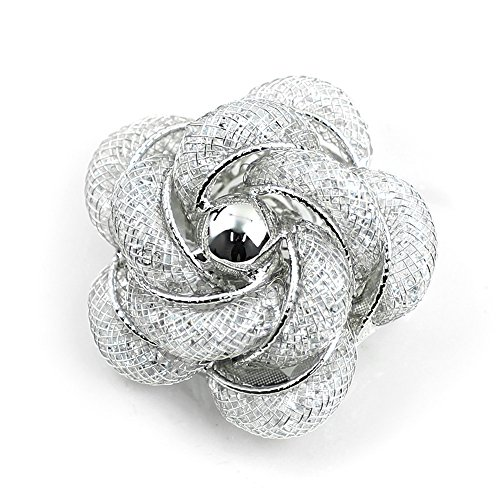 Merdia Brooch Fashinable and Refined Hollow-Out Brooch Breastpin with White color for girls ladies and - Brooch Silver White Gold