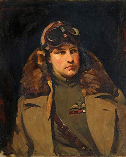 "David Cowan Dobson Anthony Frederick Weatherby Beauchamp-Proctor 1920 Royal Air Force Museum 30"" x 24"" Fine Art Giclee Canvas Print (Unframed) Reproduction"