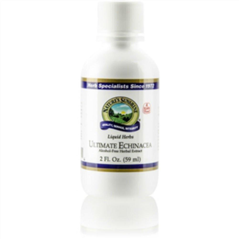 Naturessunshine Ultimate Echinacea Immune Sysytem Support Alcohol Free Herbal Extract 2 fl.oz (Pack of 2)
