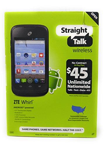 ZTE NTZEZ660GP4P Whirl Z660G Prepaid Cell Phone, Balck Net 10