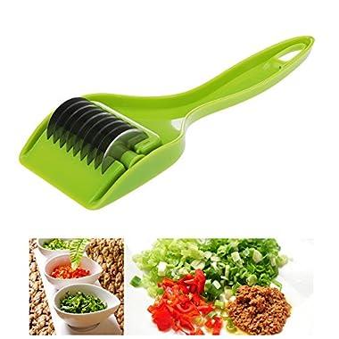 Stainless Steel Blade Green Onion Chopper Slicer Garlic Coriander Cutter Chopper Kitchen Accessories Cooking Tools