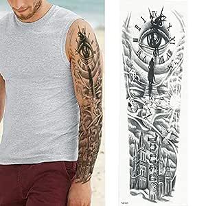 7pcs Gran brazo del tatuaje del tatuaje de las mangas del tatuaje ...