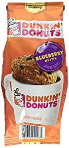 Amazon.com : Dunkin' Donuts Bakery Series Ground Coffee, Blueberry Muffin, 11 oz : Grocery ...
