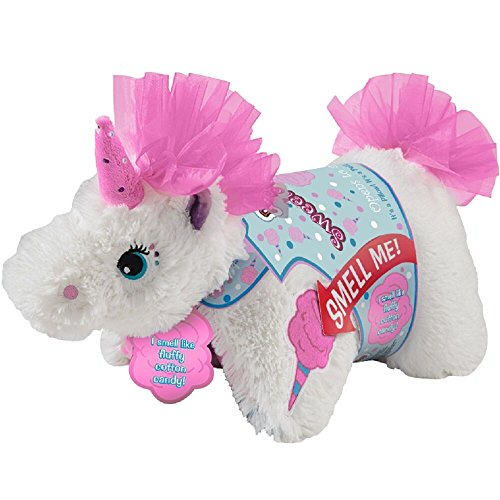 CJ Products Pillow Pets Sweet Scented Pets, Cotton Candy Unicorn, 16'' Cotton Candy Scented Stuffed Animal Plush Toy by CJ Products