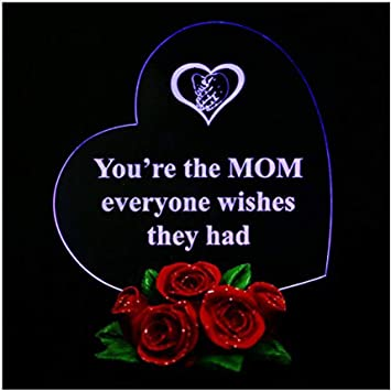 WOODDEN LED Light Box Sign for Mothers Day for Home and Wall Decor RHArt
