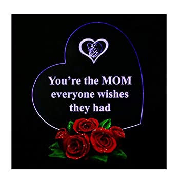 Amazon Com Heart Shaped Led Light On Rose Base Mother Gifts You Re
