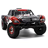 KELIWOW 1/12 Scale 4WD Brushless Short Course Truck 40+MPH 2.4GHz Fast Off-road Remote Control Car Upgrade High Speed RC Car RTR (Red)
