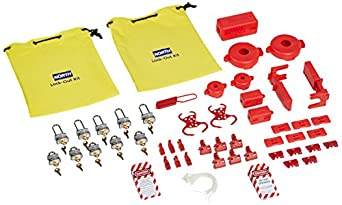North Safety LK110FE Combination Lockout/Tagout Kit, 75 Pieces