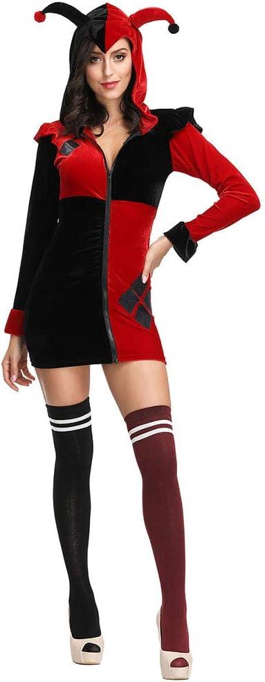 Disfraz de Cosplay de Halloween, Disfraz de Harley Quinn, Juego de ...