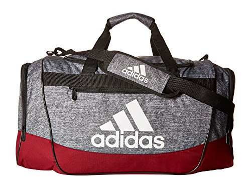 adidas Unisex Defender III Medium Duffel Onix Jersey/Collegiate Burgundy/Black/White One Size