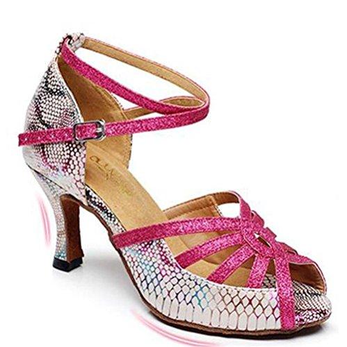 Taogo da sandali EU36 PU sala Da rosa Scarpe pompe latino 35 XIE 40 EU37 a danza 75CMHEEL ballo donna da S8wfnq