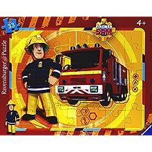 Ravensburger - 06132 - Puzzle - Sam y su camión - 35 Piezas