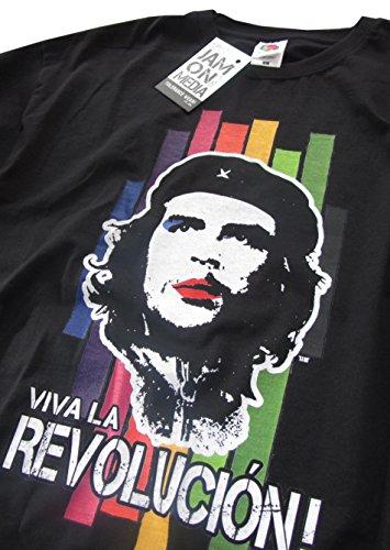 JamOnMedia T-Shirt Che Guevara, Kuba - Viva LA Revolution - S-XXL IM Retrostil/Popart-Design, Schwarz