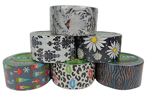 Tape Pattern (6 Roll Bundle Variety of Duck Brand Craft Duct Tape Designs and Patterns)