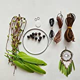 MEXIDAWN DIY Dream Catcher Kits-Green Feather Hippie Decoration Handmade Kits BOHO Wall Hanging