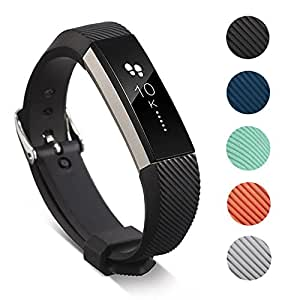 for Fitbit Alta & Alta HR Band, Classic Soft TPU Silicone Unisex Adjustable Replacement Bands Fitness Exercises Workout Sport Strap for Fitbit Alta & Alta HR Wristband- Small Black