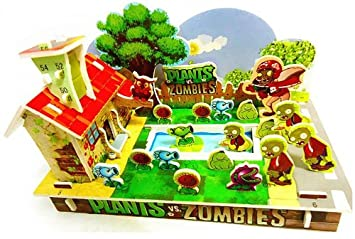 3D DIY TOY Jigsaw Puzzle enriches the childs imagination kids like it (Plants vs. zombies, Angry...