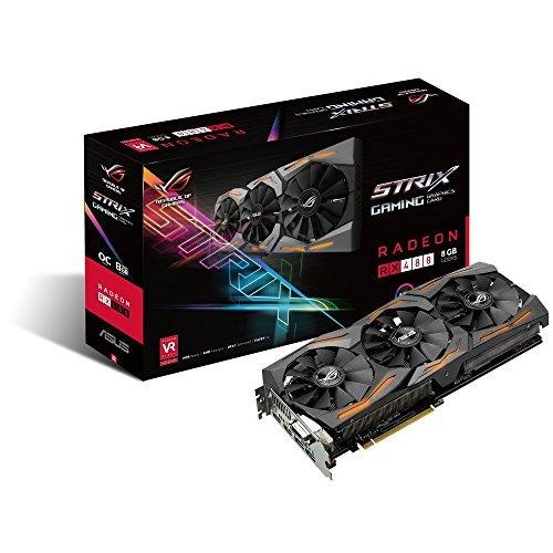 ASUS ROG Strix Radeon Rx 480 8GB OC Edition DP 1.4 HDMI 2.0 AMD Polaris Graphics Cards STRIX-RX480-O8G-GAMING