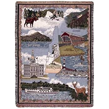 Simply Home State of Michigan Tapestry Throw Blanket 50 x 60 USA Made SKU RTP007842