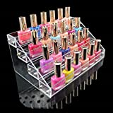 1 Racks Graceful Popular Hot Nail Polish Organizers Travel Case Cosmetic Stand Layers Holder Color Transparent 4 Tier Style #06