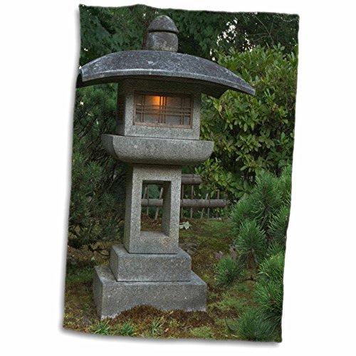 3dRose Stone Lantern in Portland Japanese Garden, USA US38 WSU0159 William Sutton Towel, 15'' x 22'' by 3dRose