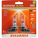 SYLVANIA 9005 SilverStar Ultra High Performance Halogen Headlight Bulb, (Contains 2 Bulbs)