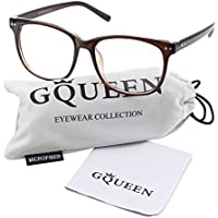 GQUEEN 201581 Large Oversized Frame Horn Rimmed Clear Lens Glasses