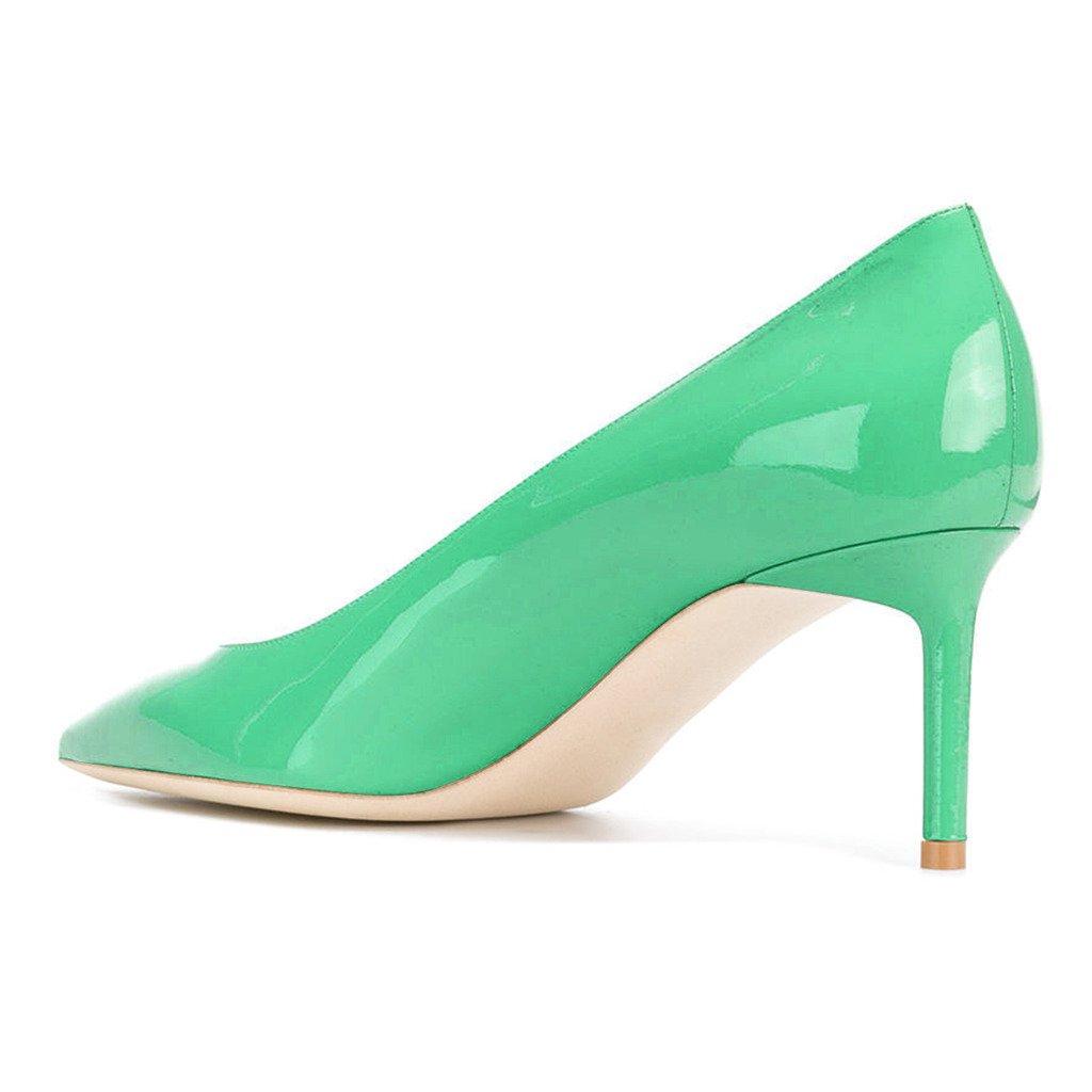 ... XYD Womens Elegant Patent High Heel Pumps Evening Pointed Toe Slip On  Evening Pumps Party Dress ... b9df9e5c0f11