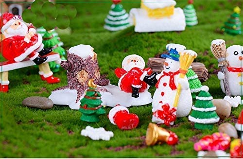 Miss.AJ® 20 Piezas Miniatura jardín de Hadas, Navidad Miniatura Hada jardín Adorno casa de muñecas DIY Kit Decor: Amazon.es: Productos para mascotas