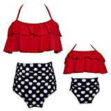 Baby Girls Bikini Set Family Matching Mother's Swimsuit Woman Swimwear (04-Baby-Red, 2-3 T)
