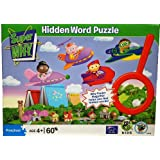 Super Why Flying Over Town 60 pc Hidden Word Jigsaw Puzzle