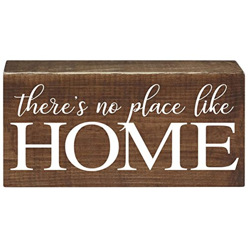 There is No Place Like Home Inspirational Pine Block for Women and Men Gift ideas for Husband, Wife, Family, and Best Friends 2